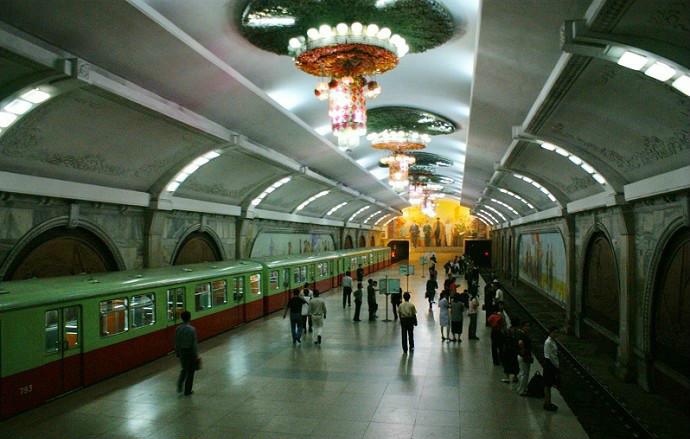 North Korea Pyongyang subway
